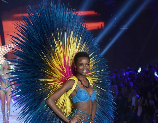 NEW YORK, NY - NOVEMBER 10:  Model Maria Borges from Angola walks the runway during the 2015 Victoria's Secret Fashion Show at Lexington Avenue Armory on November 10, 2015 in New York City.  (Photo by Jamie McCarthy/Getty Images)